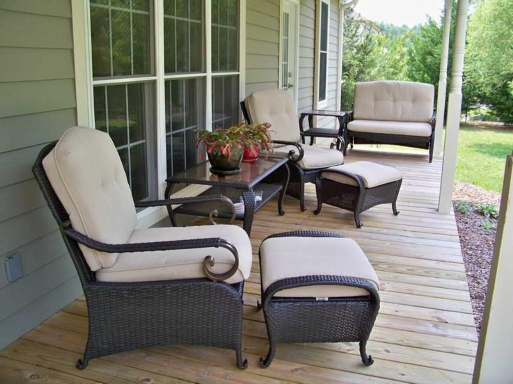 Front Porch Furniture Wicker Outdoor Decorations