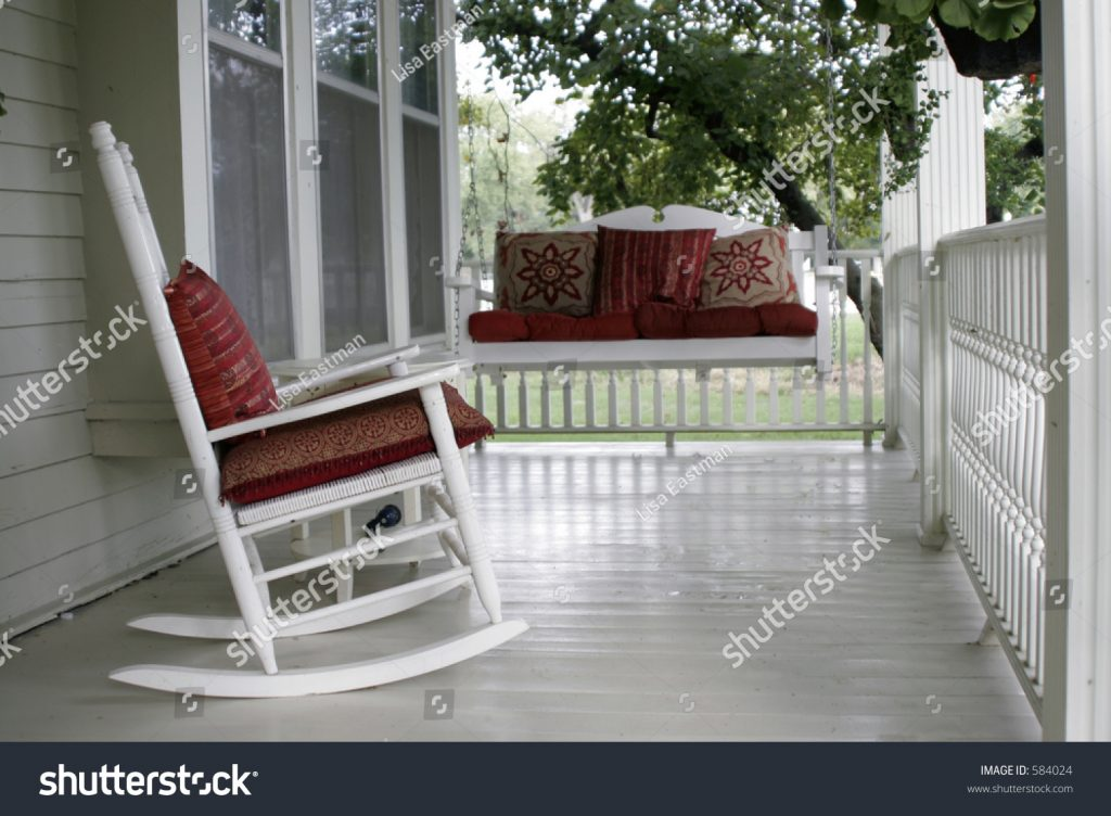 Front Porch Rocking Chair Porch Swing Stockfoto Jetzt Bearbeiten