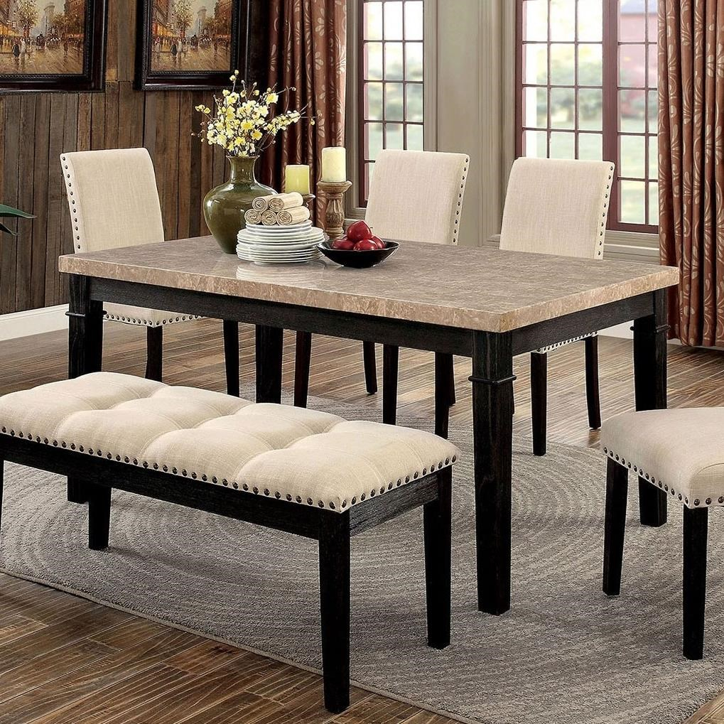 Furniture Of America Dodson Transitional Dining Table Rooms For