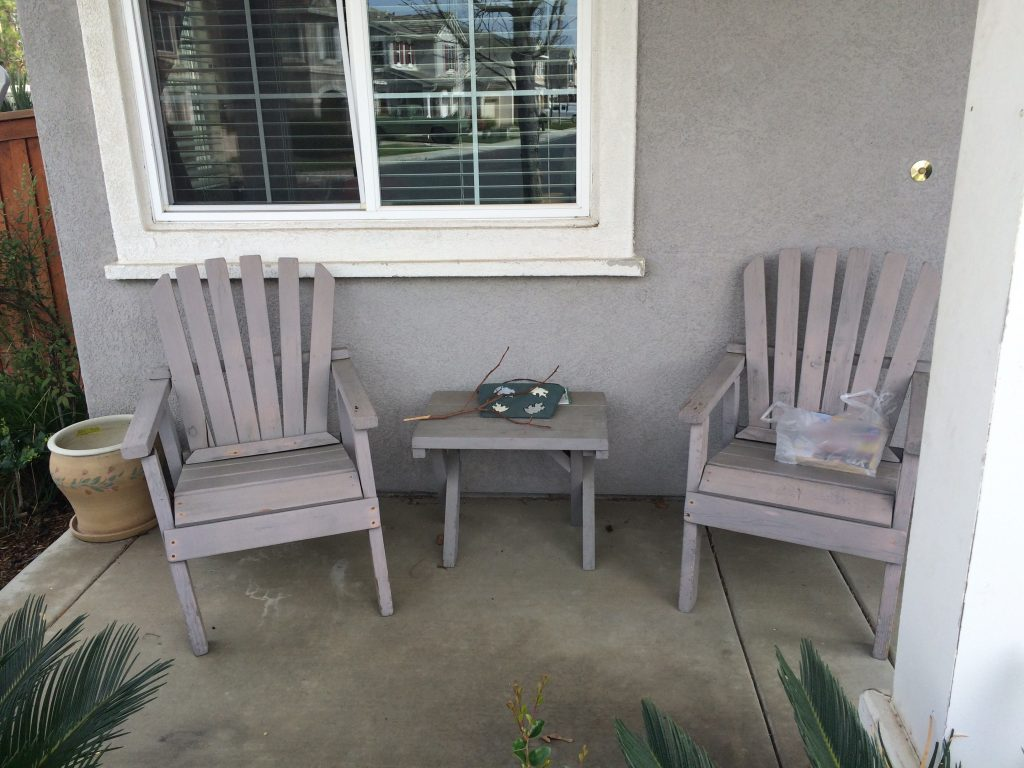 Furniture Old Front Porch Furniture With Wood Chairs And