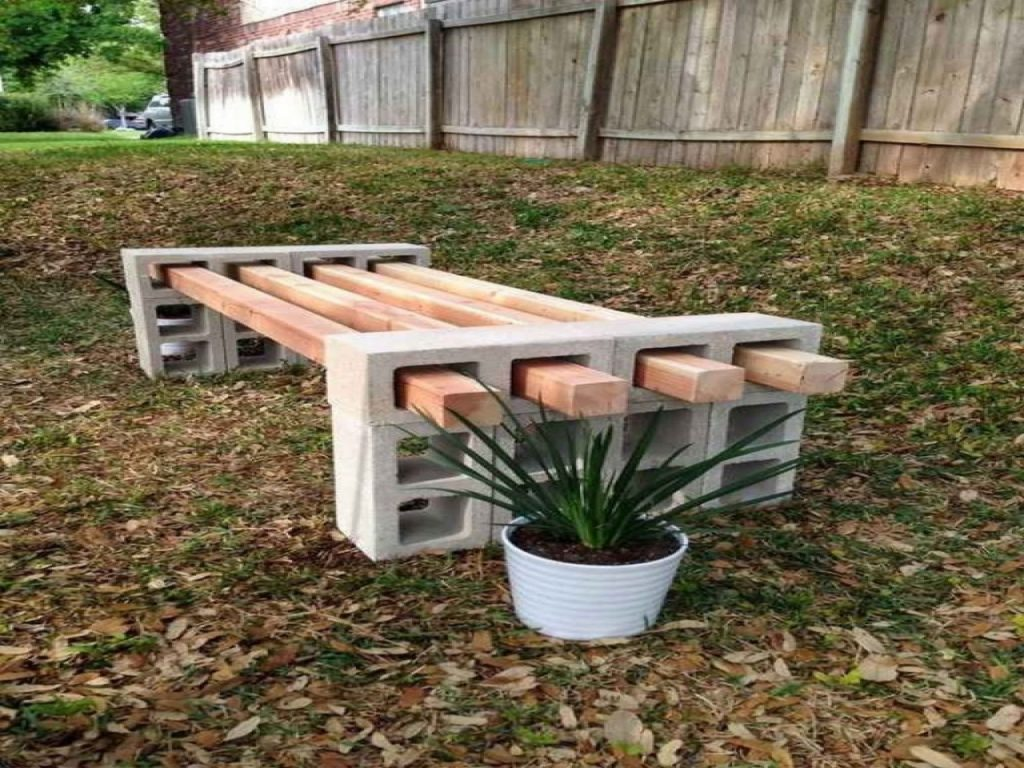 Furniture Rustic Outdoor Bench Material Ideas With Cinder Block
