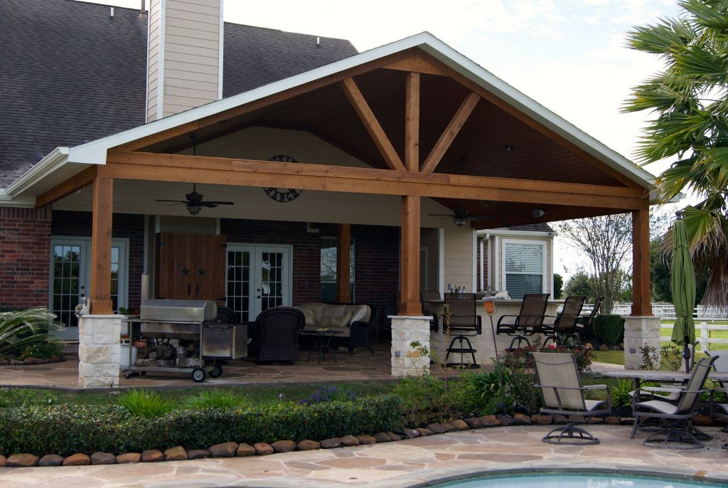 Gable Roof Patio Cover In Remington Trails Katy House Plans