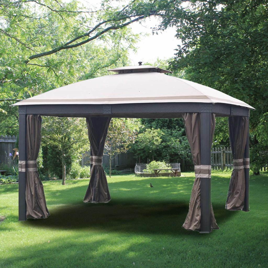 Garden Winds Replacement Canopy Top For Allen Roth Wicker 10x12