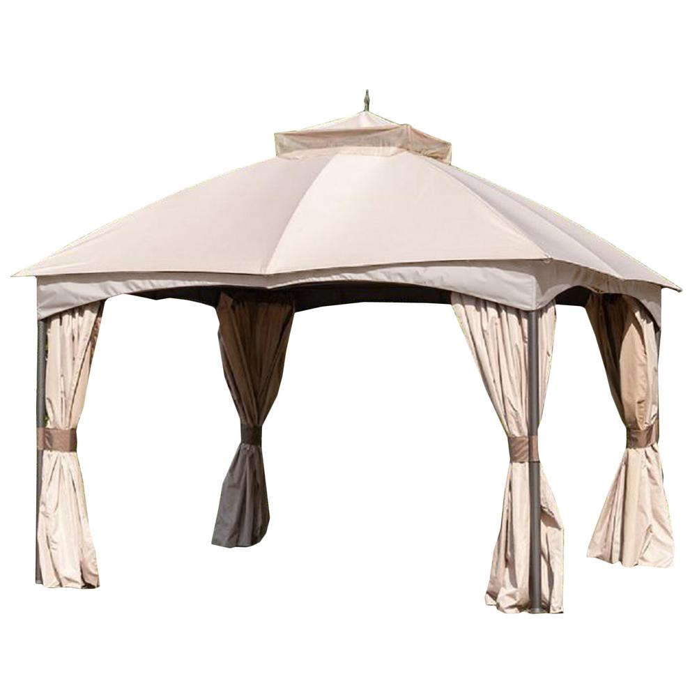 Garden Winds Riplock 350 Replacement Canopy In Beige For 10 Ft X 12
