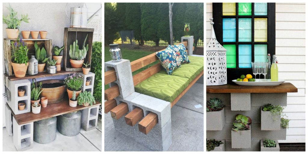 Genius Ways People Are Using Cinder Blocks In Their Backyards How
