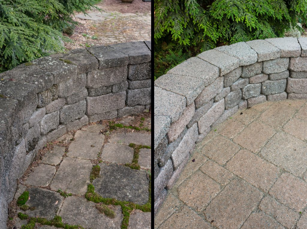 Get Rid Of Patio Moss The Paver Savers Northampton Pa