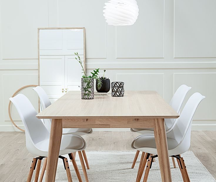 Get The Look With Our Scandinavian Dining Table In Solid Ash Wood