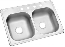 Drop in Stainless Steel Double Bowl Kitchen Sink