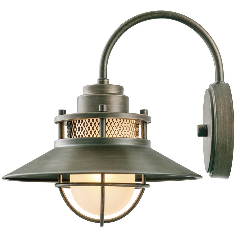 Globe Electric Liam Collection 1 Light Bronze Outdoor Wall Sconce