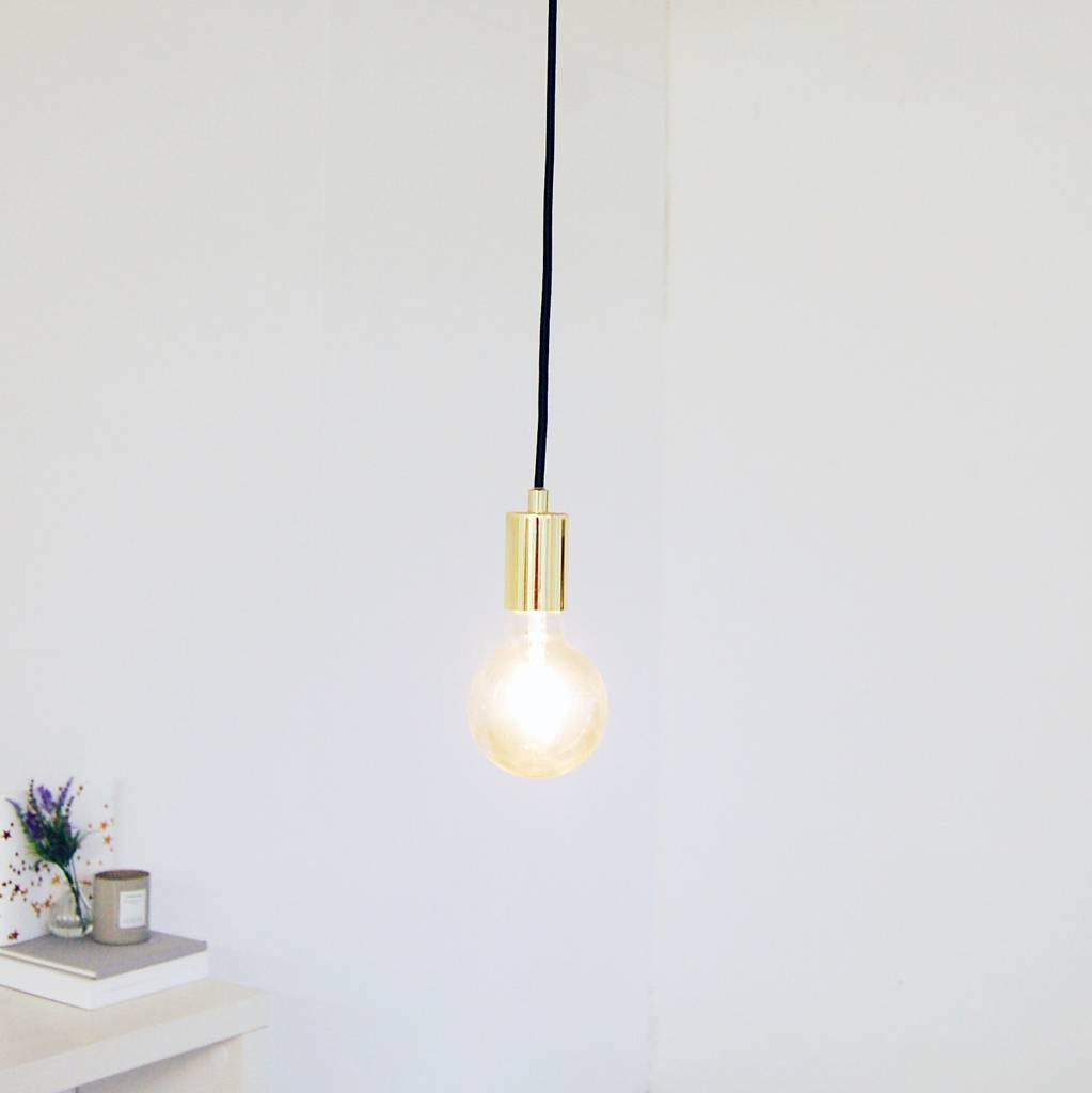 Gold Hanging Pendant Ceiling Light Made With Love Designs Ltd