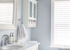 Bathroom with Gray Blue Paint Color Ideas