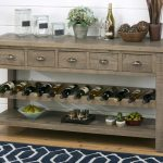 Buffet Server with Wine Rack Furniture