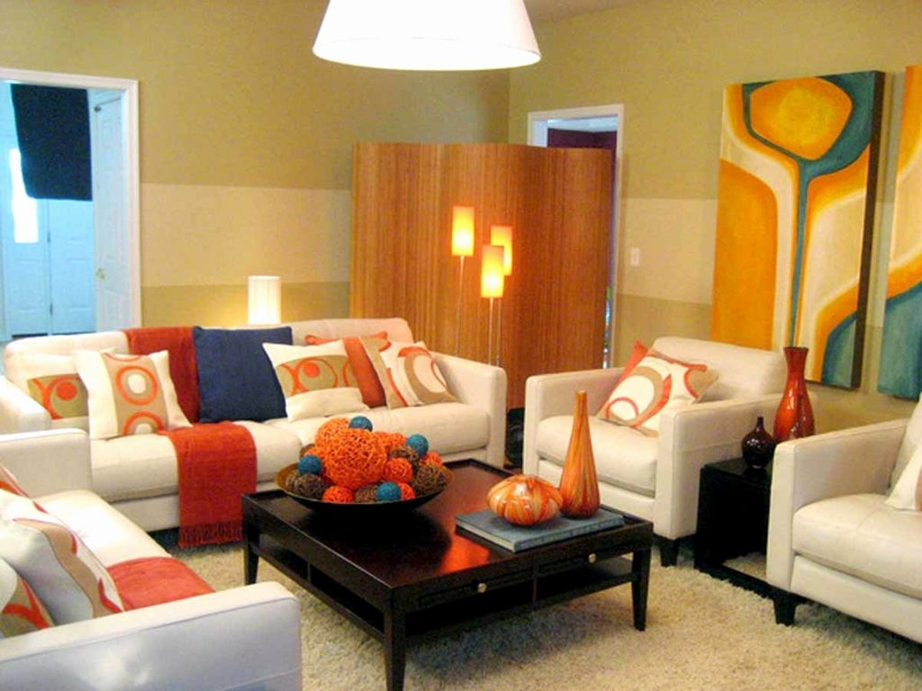 Grey Orange Living Room Furniture Ideas
