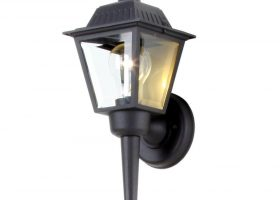 Black Outdoor Wall Lantern Lights