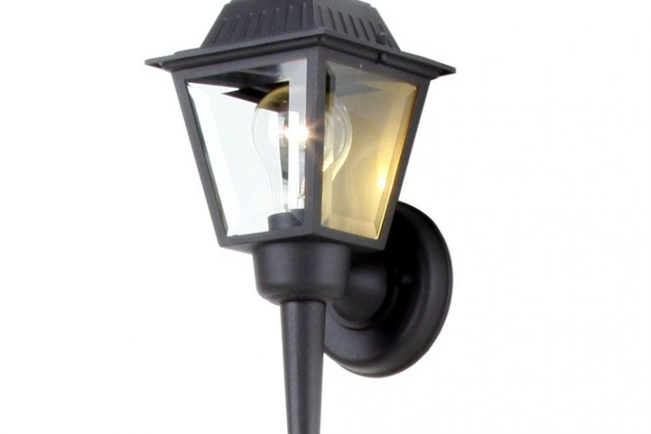 Hampton Bay 1 Light Black Outdoor Wall Mount Lantern Bpl1611 Blk