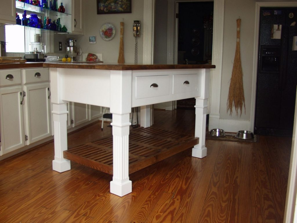 Hand Crafted Rustic Farmhouse Kitchen Island Matthews