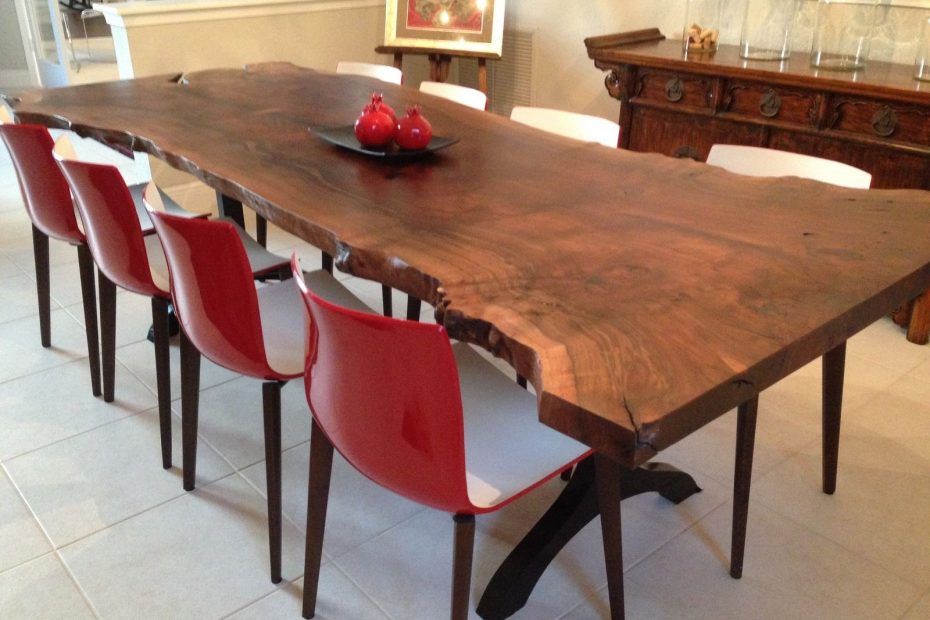 Handmade Walnut Live Edge Slab Dining Table Zac Divine Carpentry