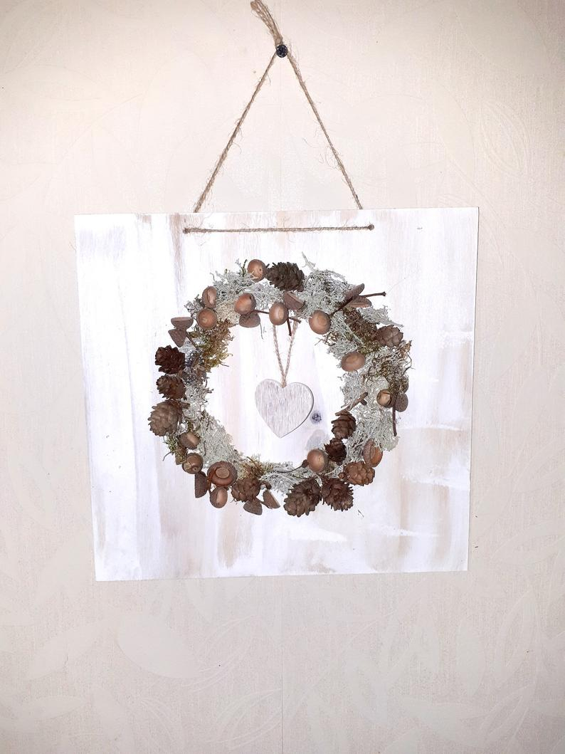 Holiday Home Decor 3d Wall Decor Rustic Woodland Winter Etsy