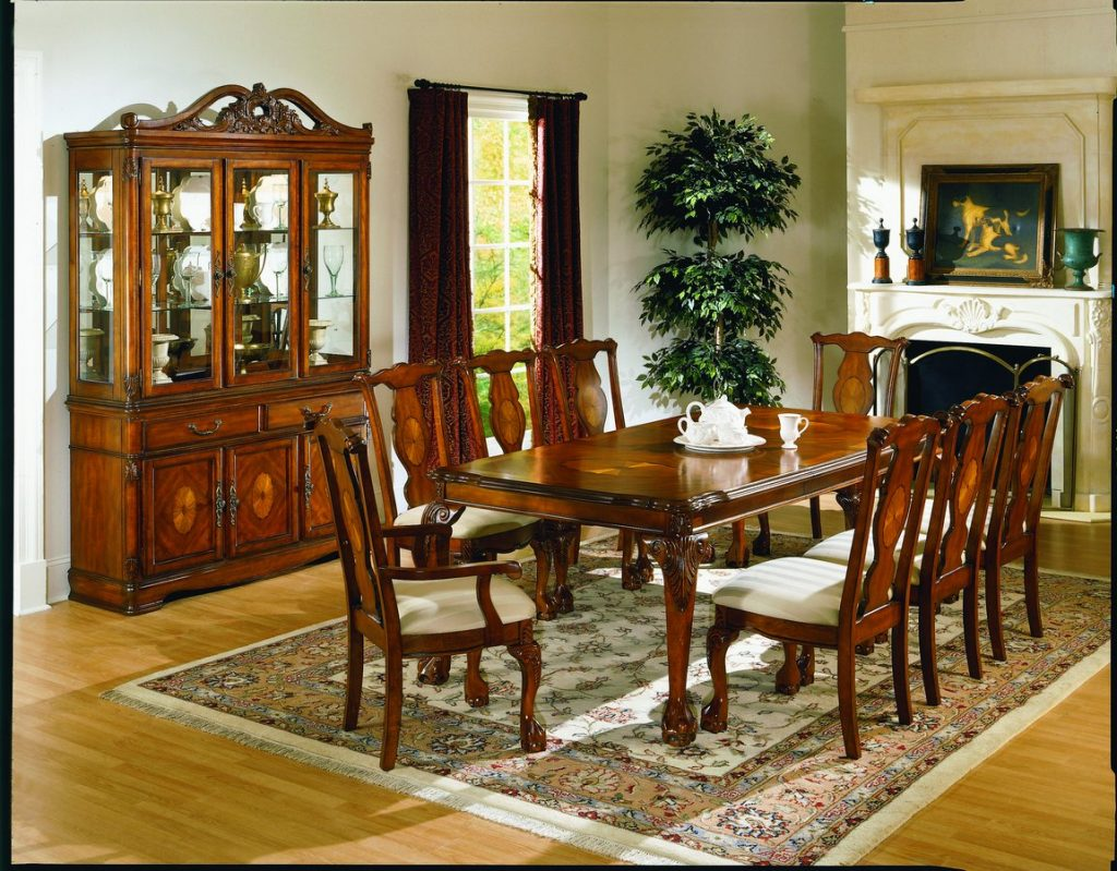 Homelegance Mediterranean Dining Table With 18 Inch Leaf 1366 86