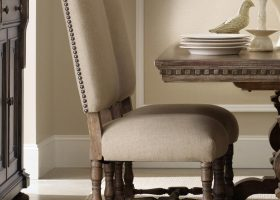 Dining Chairs with Nailhead Trim