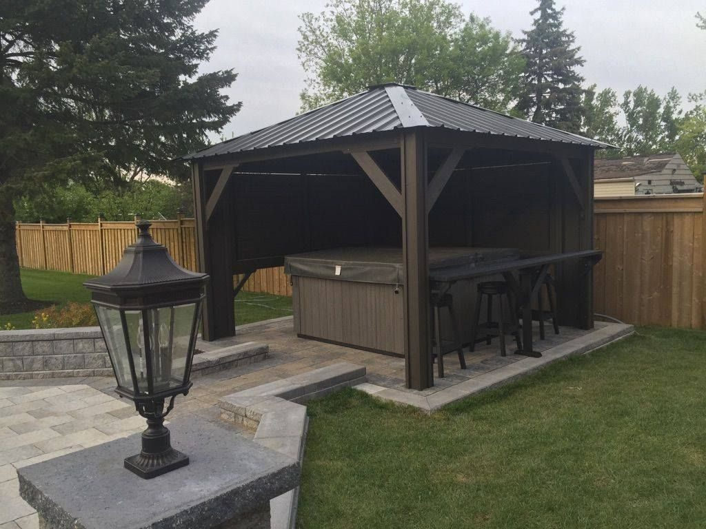 Hot Tub Gazebo Backyard Idea Spa Hot Tubs Hot Tub Backyard Hot