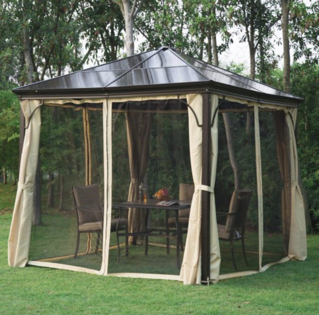 Hot Tub Gazebo Small Garden Canopy Outdoor Curtain Shelter Metal Structure Shade