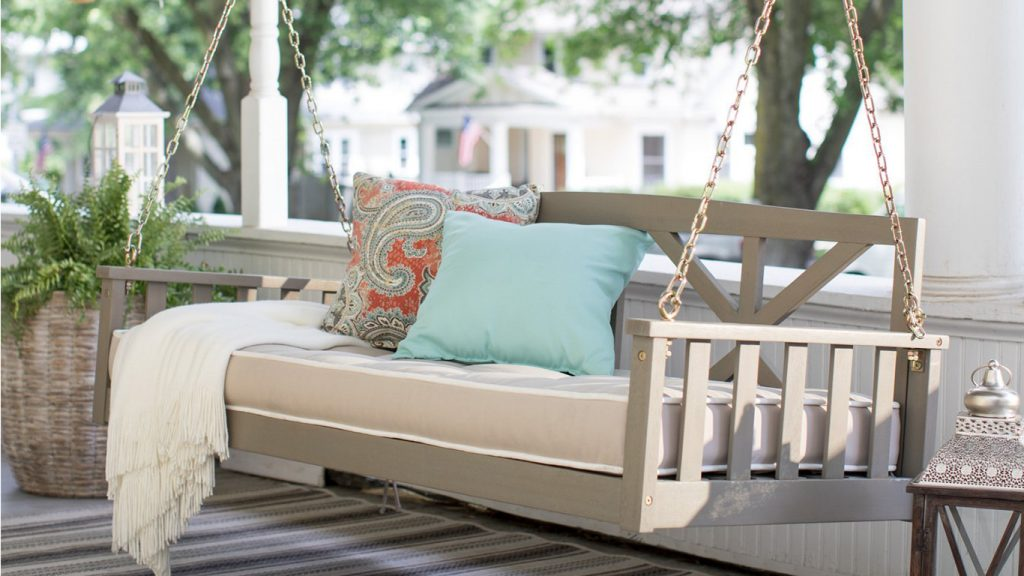 How To Hang A Porch Swing Installation Tips Hayneedle