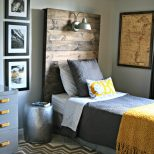 How To Make A Rustic Headboard With A Light Fixture Chic On A