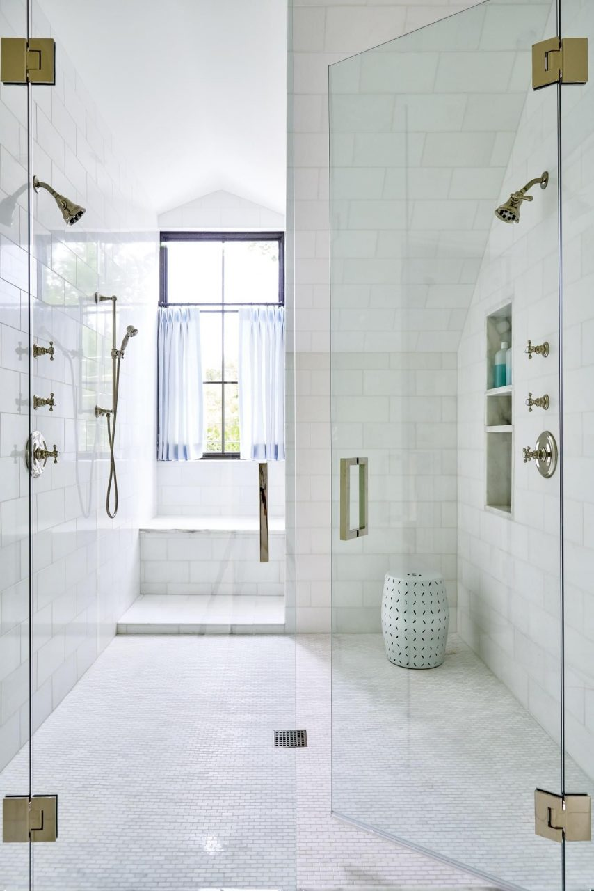 Huge Walk In Shower Complete With A Marble Window Bench So Dreamy