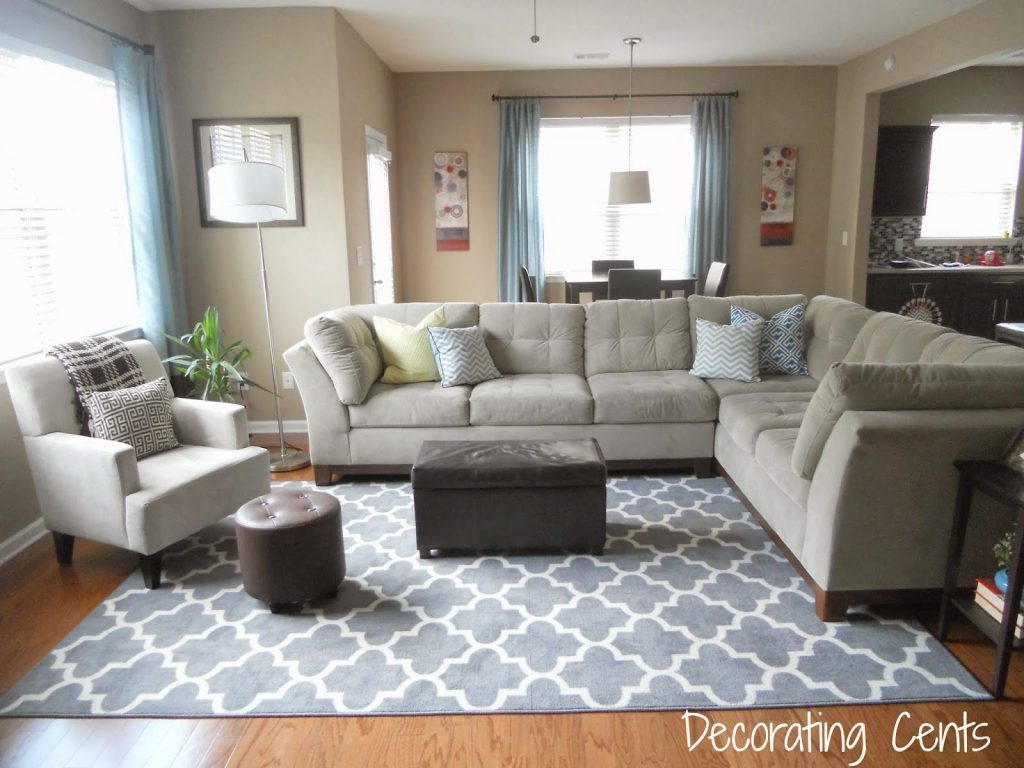 I Like This Living Room With The Cream Couches Dream Home Rugs