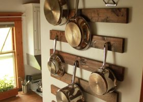 Ideas for Hanging Pots and Pans in Kitchen