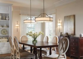 Transitional Dining Rooms with Chandeliers