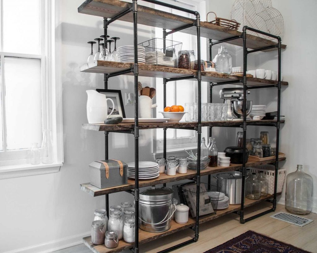 Industrial Metal Kitchen Shelves Shelf Island Cart 2018 With