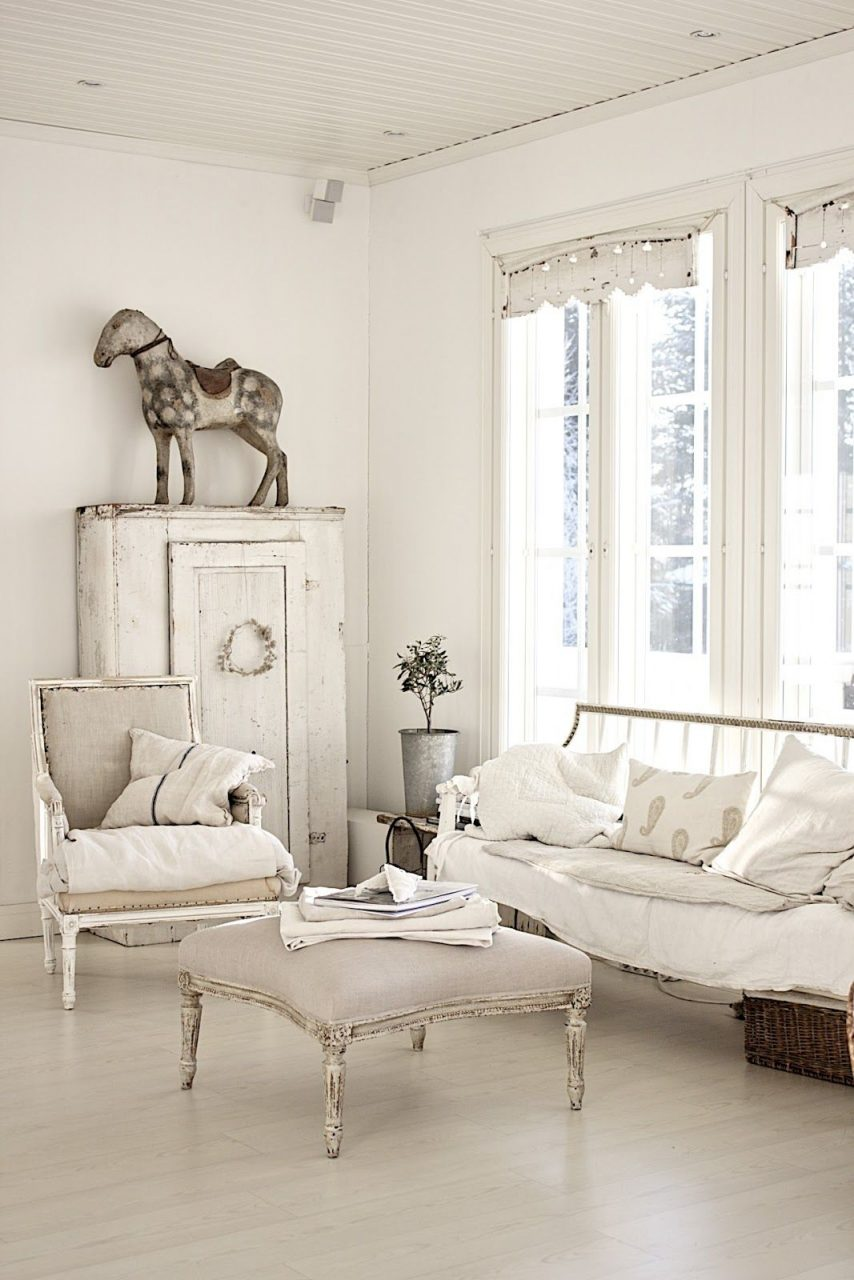 Interior Decorating Ideas Shab Chic Rustic Country Living Room
