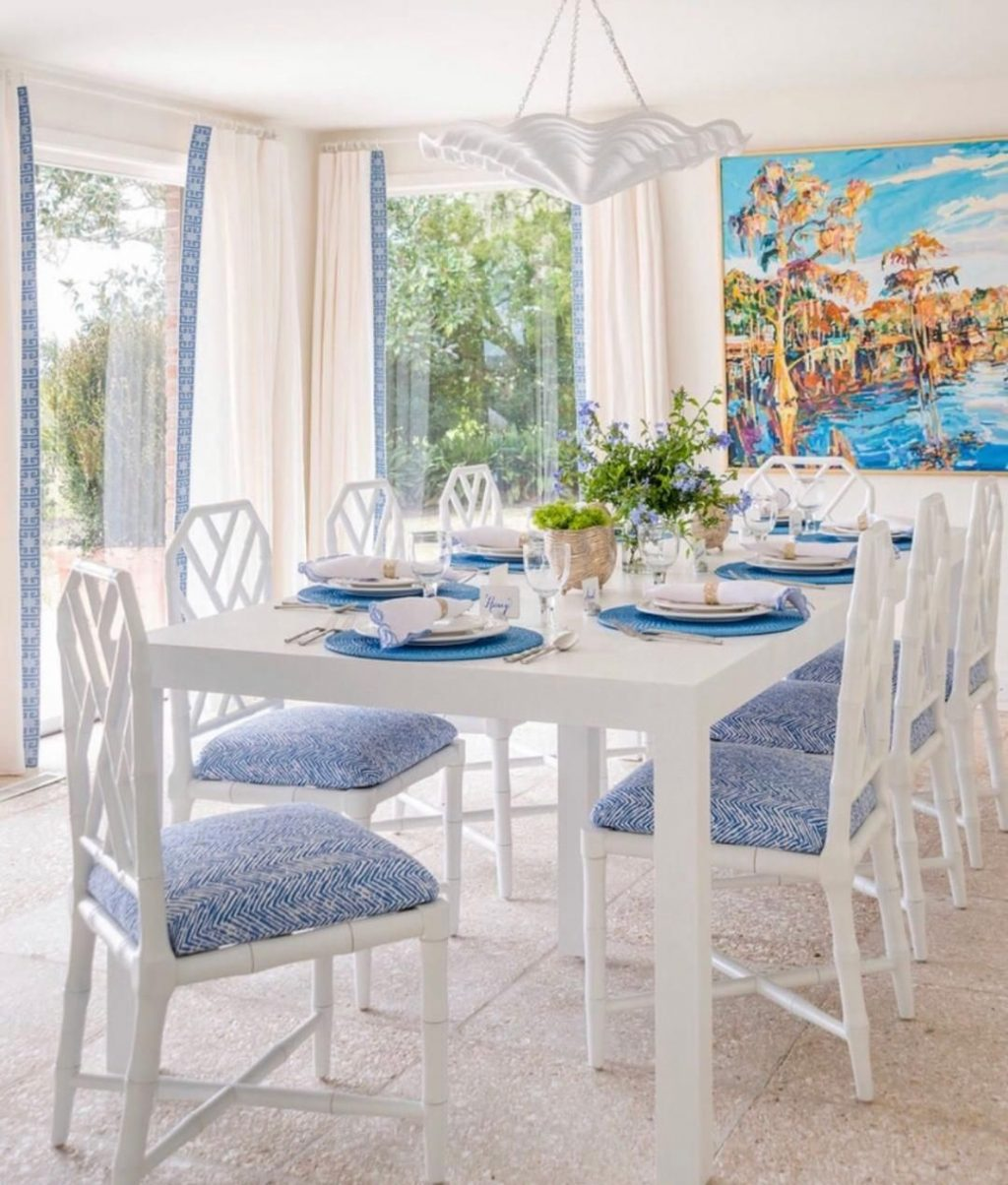 Jardin Side Chair White In 2019 Bungalow 5 In Blue Coastal
