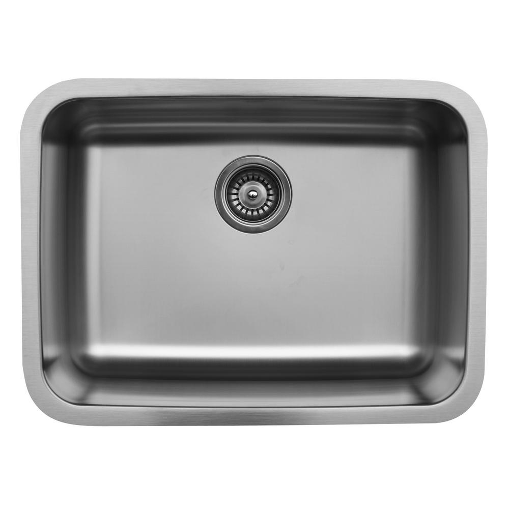 Karran Undermount Stainless Steel 24 In Single Bowl Kitchen Sink