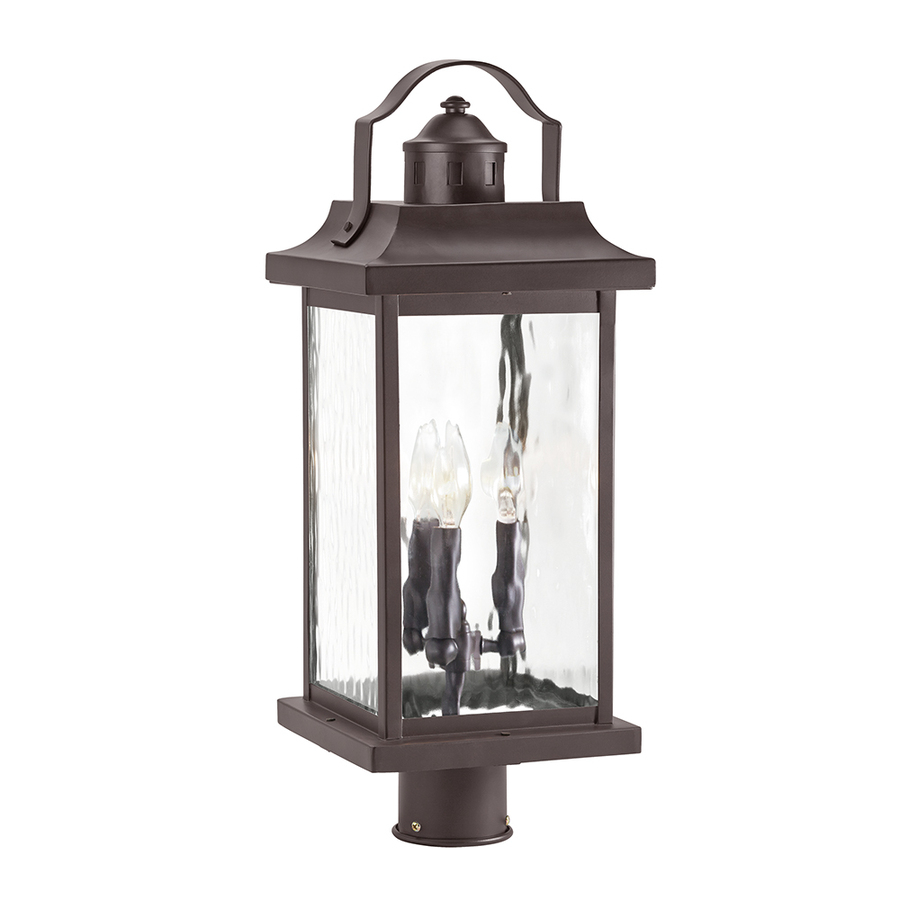 Kichler Linford 2213 In H Olde Bronze Post Light At Lowes