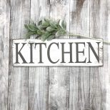 Kitchen Signs Decor Farmhouse White Rustic Home Decor Shab Chic