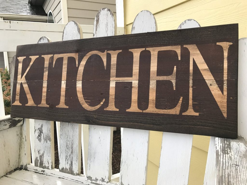 Kitchen Signs Decor Rustic Country Brown Kitchen Decor Red Etsy