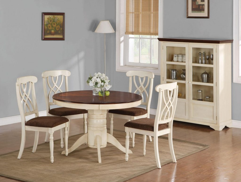 Kitchen Solid Wood Dining Table And Chairs Counter Height Dining