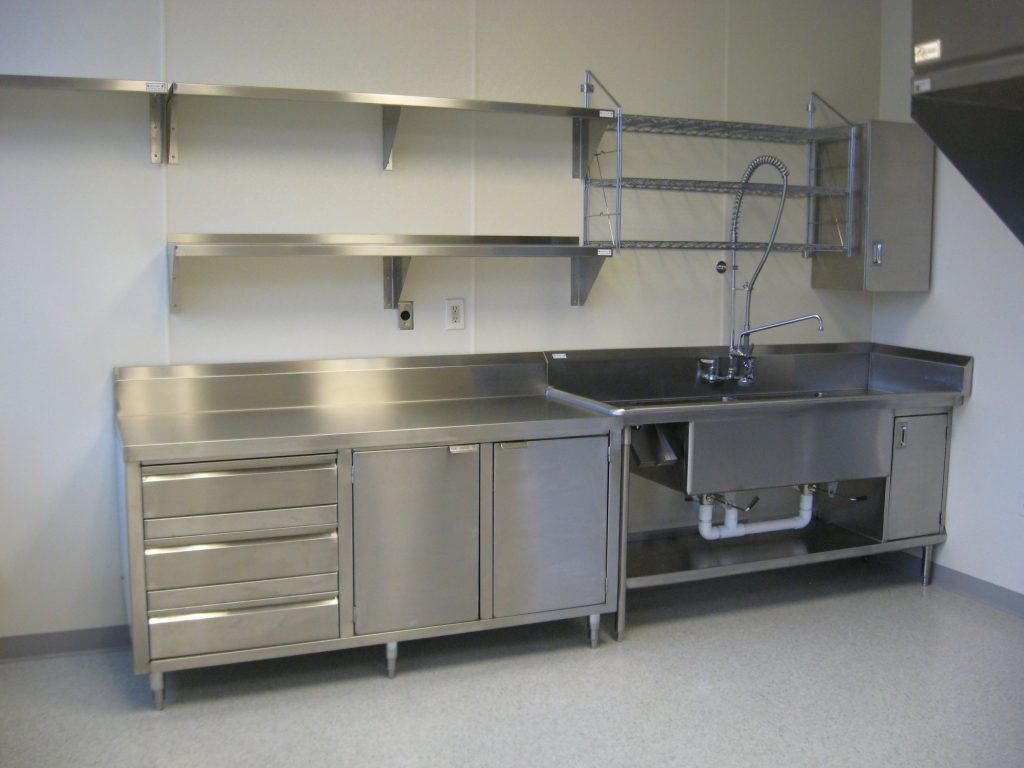 Kitchen Stainless Shelves Industrial Kitchen Pinterest
