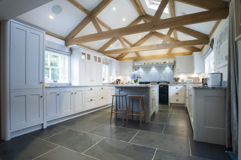 Kitchen With Exposed Beam Vaulted Ceiling The Benefits Of Vaulted