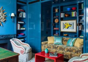 Blue Lacquered Walls