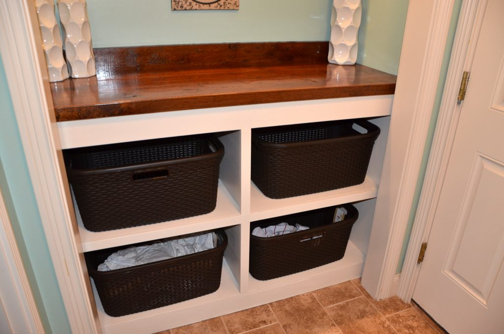 Laundry Room Closet Clothes Bin And Countertop Tutorial The