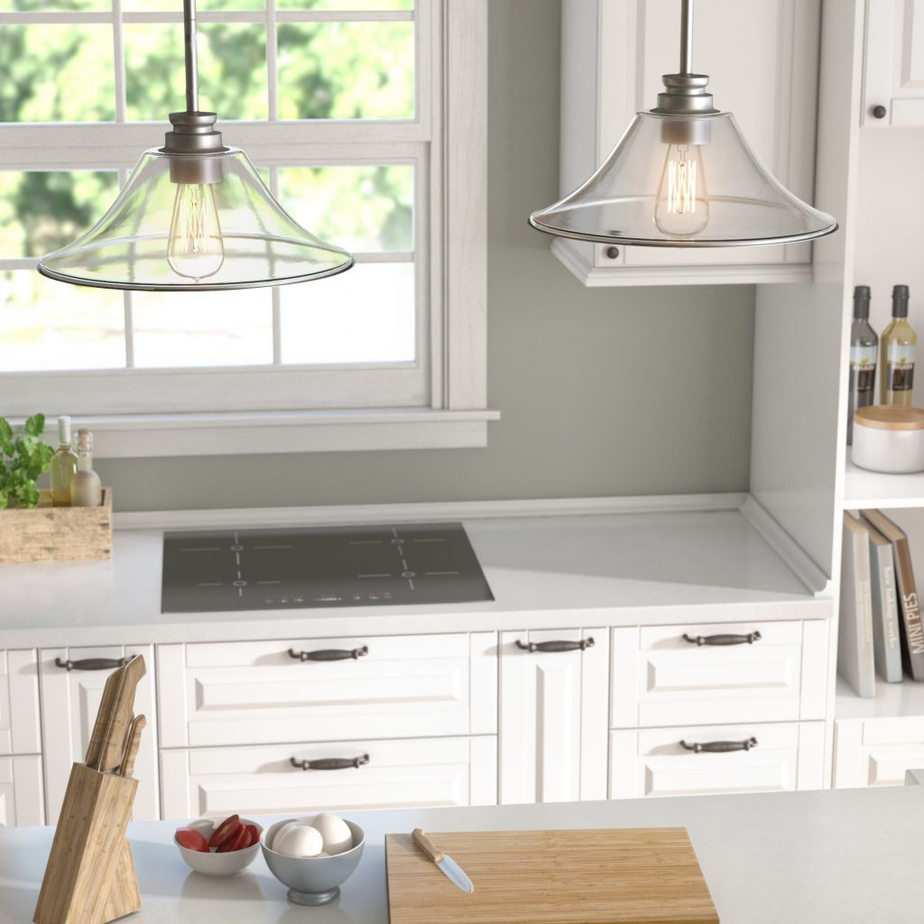 Laurel Foundry Modern Farmhouse Clayton 2 Light Kitchen Island