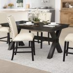 Transitional Dining Room Table and Chairs