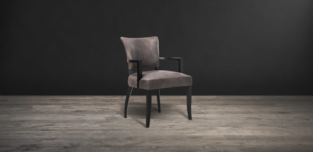 Leather Fabric Dining Chairs Mimi With Arm Timothy Oulton