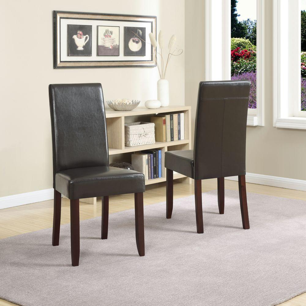 Leather Parsons Dining Room Chairs Lilimarsh