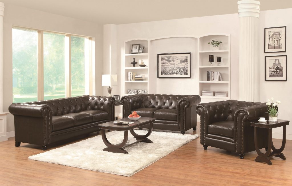 Leather Sofas Traditional Living Room Set Co 504551