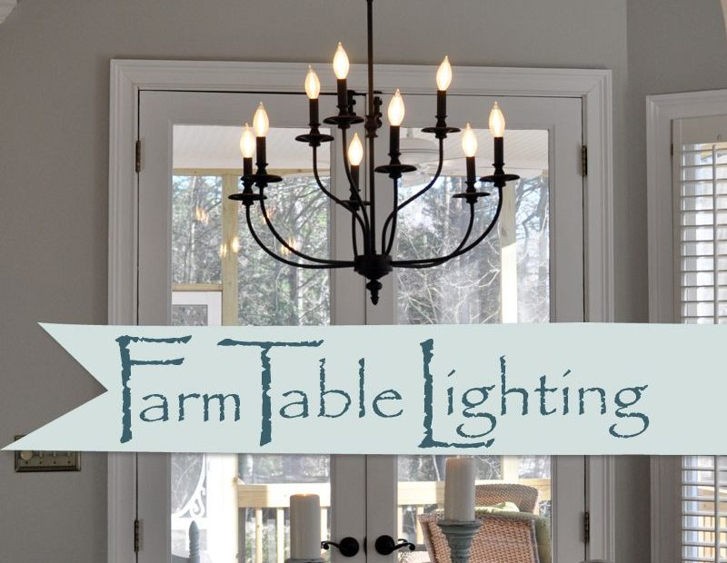 Lighting Over The Farmhouse Table The Winner Kitchen Farmhouse